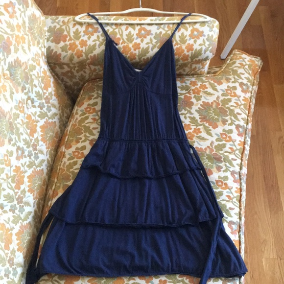 American Eagle Outfitters navy tiered dress